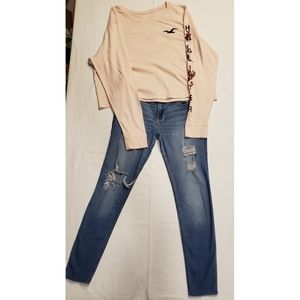 HOLLISTER 2-Piece Outfit (jeans and shirt)